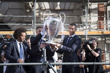 Celebración del Real Madrid tras ganar la duodécima Champions