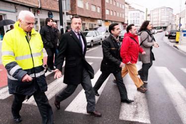 Visita de Agust�n Hern�ndez a Ferrol