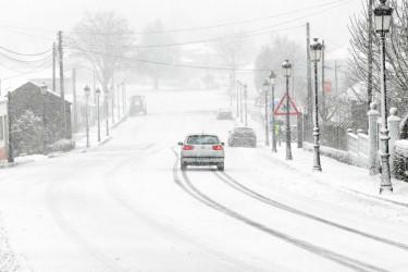 Nieve en Dozón, en la comarca del Deza