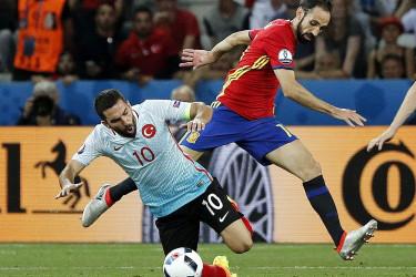 Partido entre Espa�a y Turqu�a de la Eurocopa 2016 (3-0)