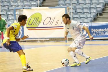 Partido entre Santiago Futsal y Gran Canaria (4-3)