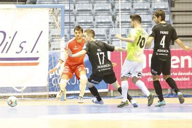 Encuentro de fútbol sala entre Santiago y Palma Futsal