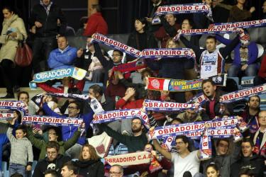 Obradoiro - Bilbao Basquet. Búsquese en la grada