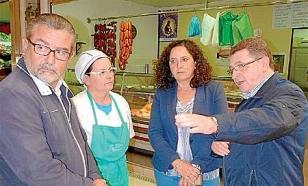 Andr�s Mill�n, izquierda, Helena Santos, Bel�n do Campo e Isaac Maceiras, ayerFOTO: