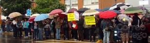 Protesta dos pais e nais do CEIP de Sig�eiro (arquivo) - FOTO: ECG