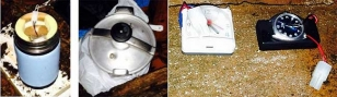 Combo de fotograf�as facilitadas por el Ministerio del Interior del material encontrado en el interior de un zulo localizado hoy por la Guardia Civil en la localidad coru�esa de O Predouzo - FOTO: eFE