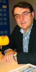 Juan Mart�nez, nos estudos de Radio Obradoiro - FOTO: Radio Obradoiro