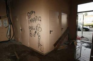 Imagen del interior del edificio okupado en la zona de Salgueiri�os.  - FOTO:  F. Blanco