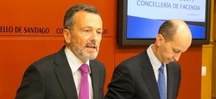 Agust�n Hern�ndez co concelleiro de Facenda, Ram�n Quiroga - FOTO: Concello de Santiago