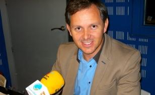 Jos� Mi�ones, este xoves nos estudos de Radio Obradoiro - FOTO: S.R.