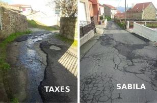 Situaci�n das parroquias de Sabila e Taxes - FOTO: CXG