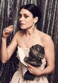 Nera Barros en el backstage tras recoger el Goya - FOTO: Jos� Haro (cedidas a El Mundo)
