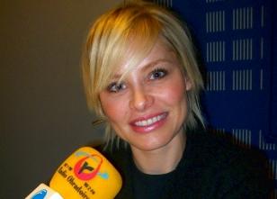 Soraya en Radio Obradoiro - FOTO: Radio Obradoiro