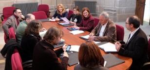 Reuni�n de traballo deste m�rcores - FOTO: Concello de Santiago