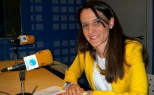 Helena de Lucas nos estudios de Radio Obradoiro - FOTO: R.O.