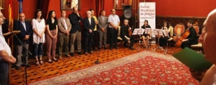 Imaxe da cerimonia celebrada no sal�n vermello de Raxoi - FOTO: CDS