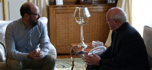 Marti�o Noriega co arcebispo Juli�n Barrio - FOTO: Concello de Santiago