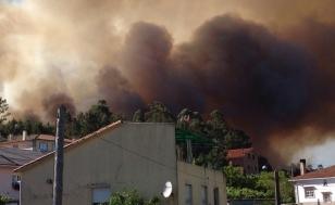 Imaxe do incendio de Mouromorto do pasado xu�o - FOTO: ECGA