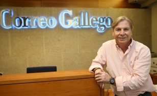Fernando Prieto, en la sede de El Correo Gallego - FOTO: Fernando Blanco