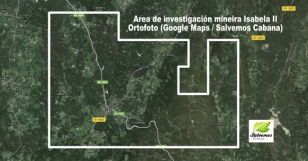 �rea de investigaci�n minera Isabela II - FOTO: Salvemos Cabana