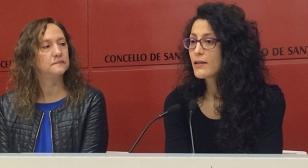 Silvia Modia e Neves Seara durante a rolda de prensa - FOTO: Concello de Santiago