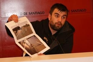 Rafael Pe�a durante a rolda de prensa no Pazo de Raxoi - FOTO: Concello de Santiago