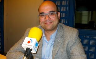 O portavoz do BNG, Rub�n Cela, este m�rcores en Radio Obradoiro - FOTO: R.O.