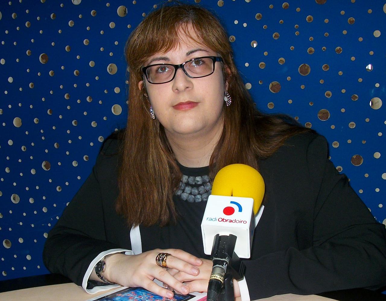 Arantxa Serantes en Radio Obradoiro - FOTO: Radio Obradoiro