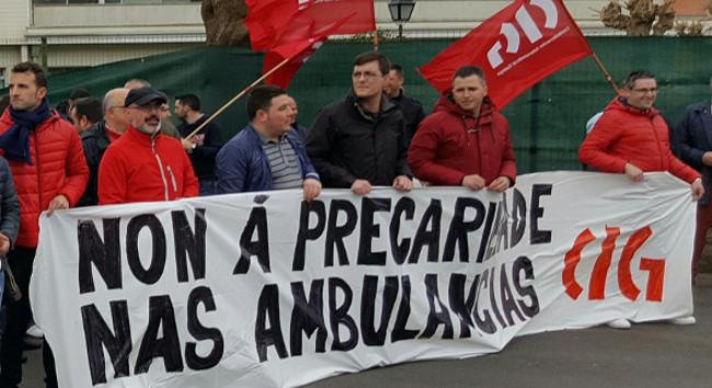 Imaxe de arquivo dunha das mobilizaci�ns secundadas polos traballadores de Ambuib�rica - FOTO: CIG
