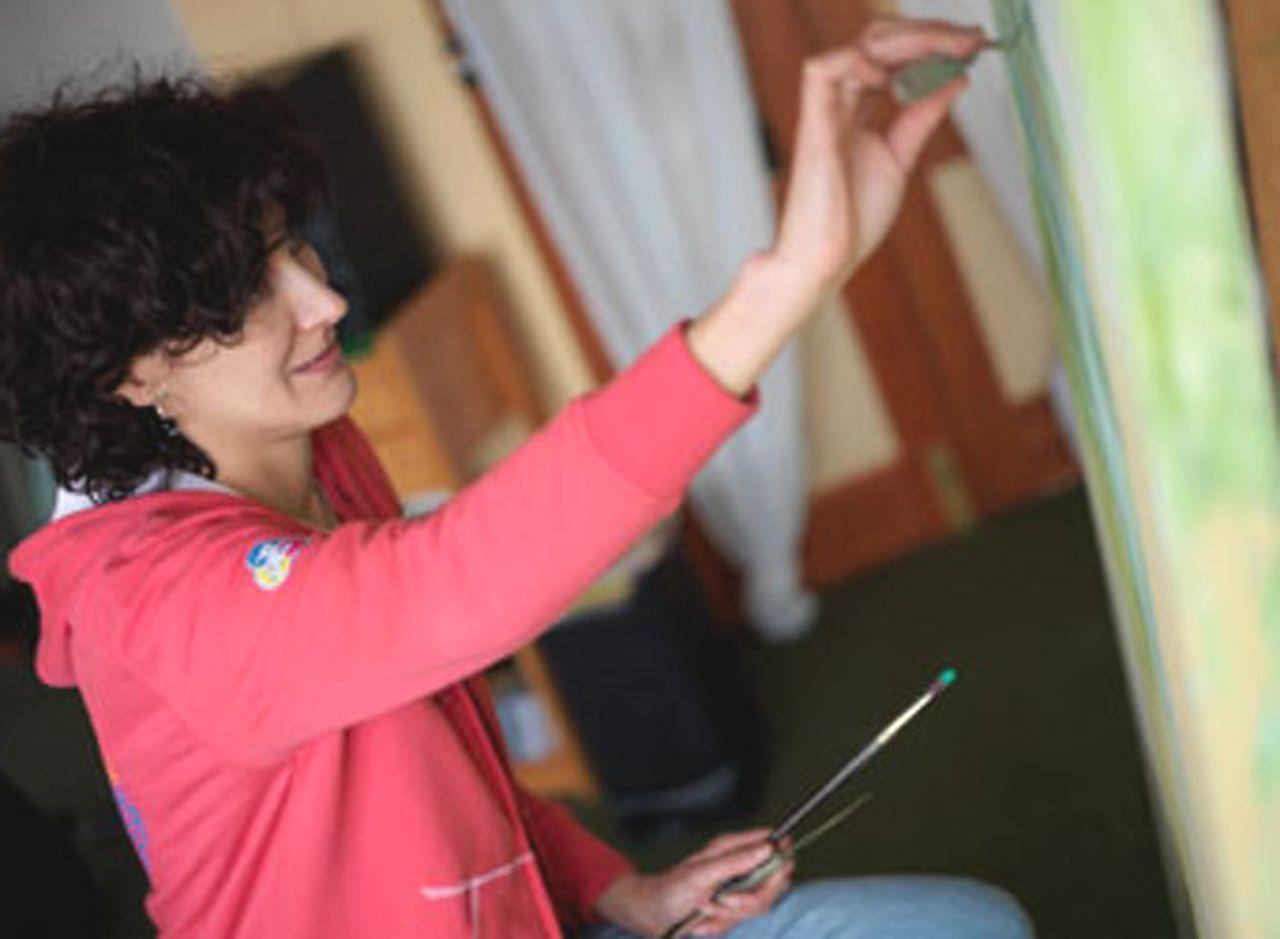 La pintora y grabadora madrile�a Isabel Pintado