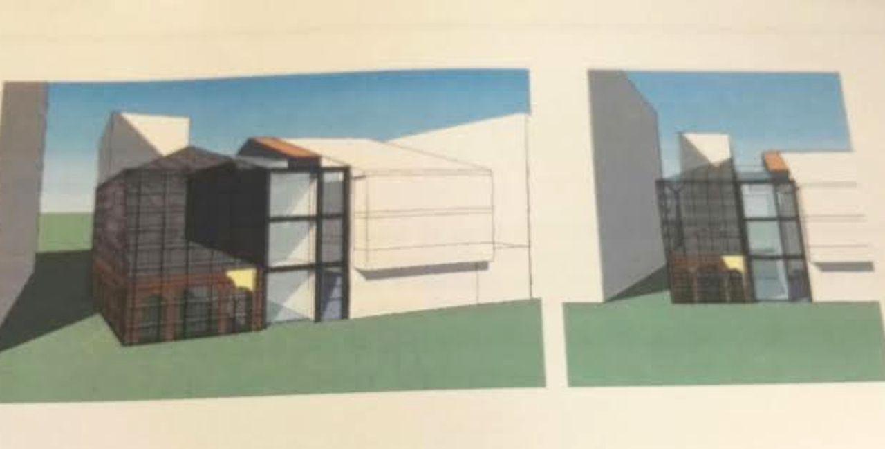 Imagen de infograf�a de c�mo quedar� el nuevo edificio del museo tras finalizar su acondicionamiento.  - FOTO:  C. de N.