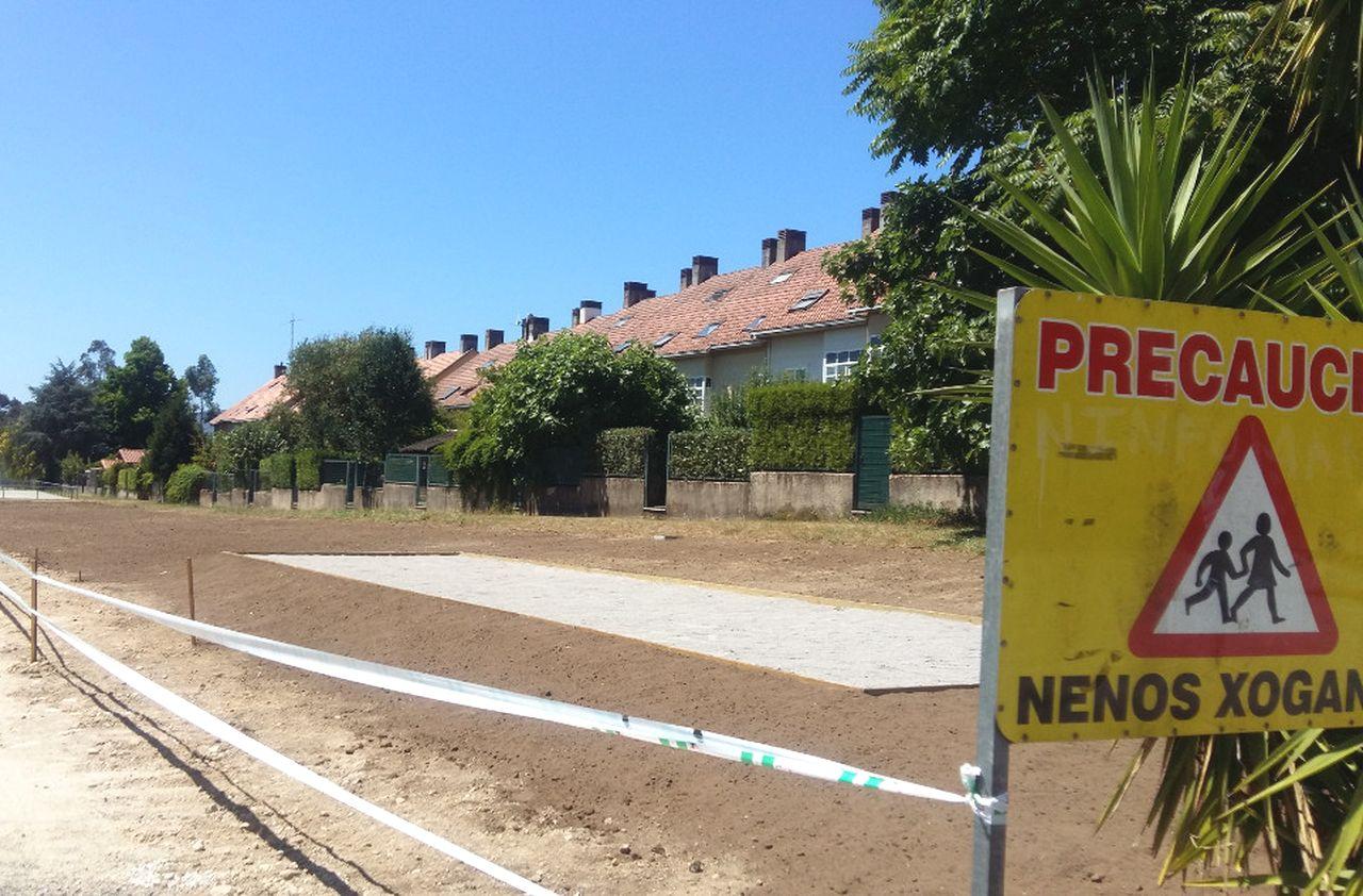 Estado de las obras acometidas por el momento en Aldea Nova.  - FOTO: C.B.