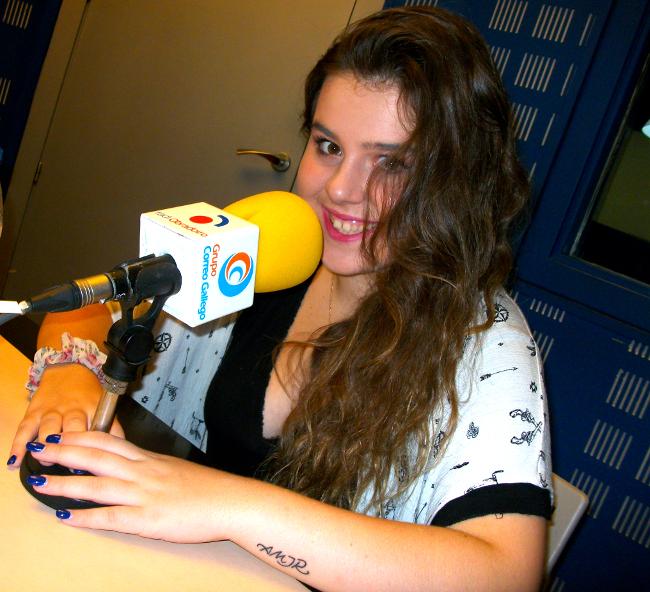 Sara Serena, este martes en Radio Obradoiro - FOTO: R.O.