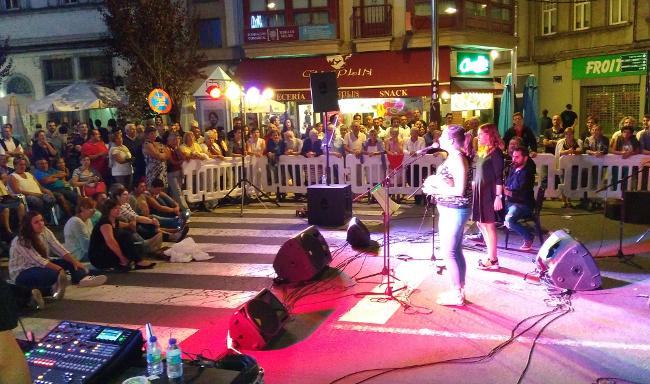 Imaxe do concerto do pasado 14 de agosto en Melide - FOTO: PSOE