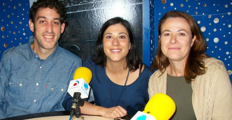 Alain G�mez, Eva Canedo y Pilar Bonigno - FOTO: Radio Obradoiro