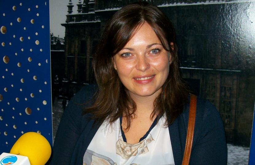 La investigadora Cristina Contreras en Radio Obradoiro - FOTO: Radio Obradoiro