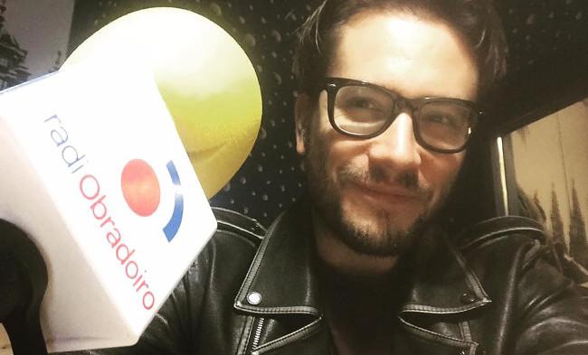 Fernando Tato durante a s�a visita a Radio Obradoiro - FOTO: F.T.