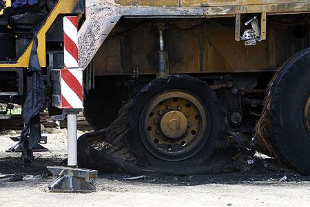 Sabotaxe nas obras do AVE en Santiago