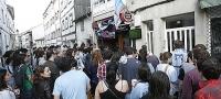 Pe�a celtista de la Cervecer�a Merlego en Santiago
