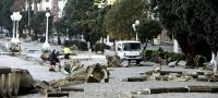El temporal destroza decenas de metros del paseo mar�timo de A Coru�a