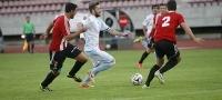 Partido entre el Compostela y eL Logro��s en el estadio de San L�zaro, en Santiago