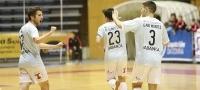 Partido entre Santiago Futsal y D-Link Zaragoza (4-3)